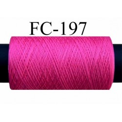 bobine de fil mousse polyamide FIL N° 100 couleur fushia longueur de la bobine 500 mètres fabriqué en France