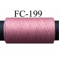 bobine de fil mousse polyamide couleur rose camélia longueur de la bobine 500 mètres fabriqué en France