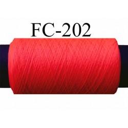 bobine de fil mousse polyester couleur orange fluo plus fluo que sur la photo longueur de bobine 500 mètres fabriqué en France