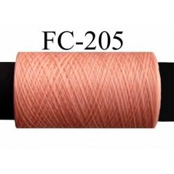 bobine de fil mousse polyester texturé couleur rose saumon longueur de la bobine 500 mètres fabriqué en France