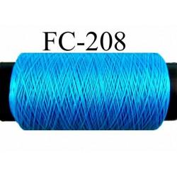 bobine de fil mousse polyamide couleur bleu turquoise longueur de la bobine 500 mètres fabriqué en France