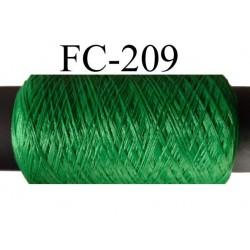 bobine de fil mousse polyester couleur vert longueur de la bobine 500 mètres fabriqué en France