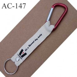 porte clé mousqueton VUARNET longueur 16 cm vendu à l'unité
