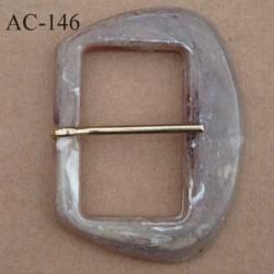 boucle anneau étrier plastique onyx effet marbré  80 mm vendu à l'unité