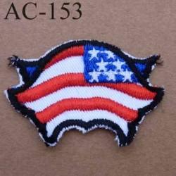 écusson empiècement thermocollant réparateur de vêtement drapeau USA