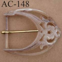 boucle anneau étrier plastique onyx effet marbré  55 mm vendu à l'unité