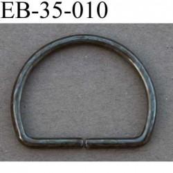 Boucle etrier anneau demi rond métal couleur bronze largeur 3.5 cm intérieur 2.7 cm idéal pour sangle 2,5 cm hauteur 2.7 cm