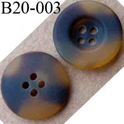 bouton 20 mm couleur pvc marron marbré 4 trous diamètre 20 mm