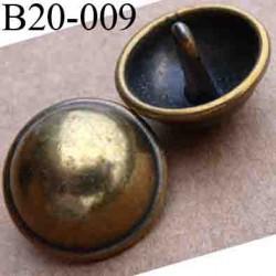 bouton 20 mm en métal style ancien accroche avec un anneau diamètre 20 millimètres
