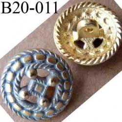 bouton 20 mm en pvc style ancien accroche avec un anneau diamètre 20 millimètres