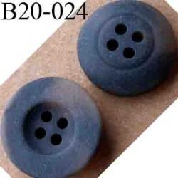 bouton 20 mm couleur marron marbré 4 trous diamètre 20 mm