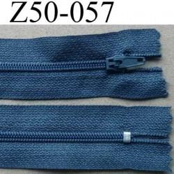 fermeture éclair longueur 50 cm couleur bleu gris non séparable largeur 2.5 cm glissière nylon largeur 4 mm