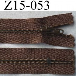 fermeture 15 cm marron non séparable zip nylon