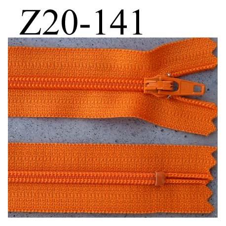 Couleur Orange Zip// Fermeture éclair dentelle non séparable de 20 cm