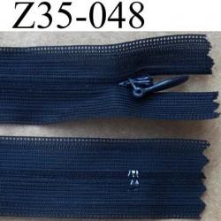 fermeture éclair invisible longueur 35 cm couleur bleu marine non séparable largeur 2.7 cm glissière nylon largeur 4.5 mm