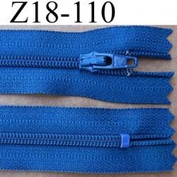 fermeture éclair YKK longueur 18 cm couleur bleu non séparable largeur 2.5 cm glissière en nylon largeur 4 mm