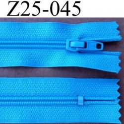 fermeture éclair invisible longueur 25 cm couleur bleu cassé non séparable largeur 2.3 cm glissière nylon largeur 4 mm