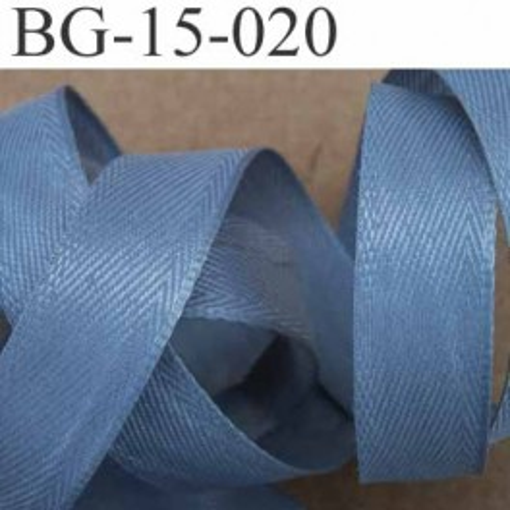 biais ruban galon synthétique largeur 15 mm couleur gris vendu au mètre