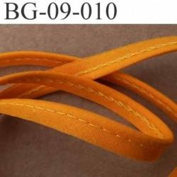 biais galon ruban passepoil en coton couleur orange avec cordon coton très solide largeur 9 mm vendu au mètre