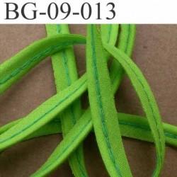 biais galon ruban passepoil en coton couleur vert anis style fluo avec cordon coton très solide largeur 9 mm vendu au mètre