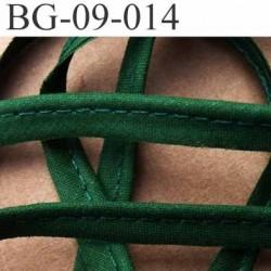 biais galon ruban passepoil en coton couleur vert bouteille avec cordon coton très solide largeur 9 mm vendu au mètre