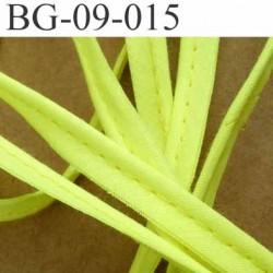 biais galon ruban passepoil en coton couleur jaune style fluo avec cordon coton très solide largeur 9 mm vendu au mètre
