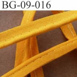 biais galon ruban passepoil en coton couleur orange lumineux avec cordon coton très solide largeur 9 mm vendu au mètre