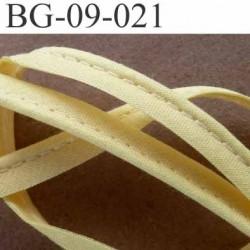 biais galon ruban passepoil en coton couleur jaune avec cordon coton très solide largeur 9 mm vendu au mètre