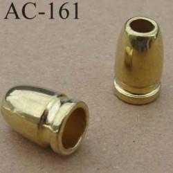 arrêt cordon embout perle doré pour cordon de 5 mm de diamètre vendu à l'unité