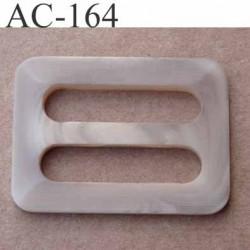 boucle anneau étrier plastique  largeur 55 mm pour sangle de 40 mm de large vendu à l'unité