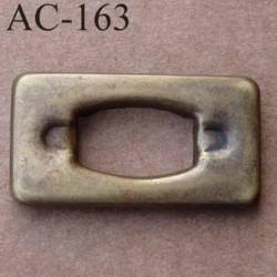 Boucle etrier anneau rectangulaire métal couleur bronze largeur 37 mm