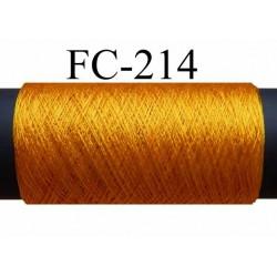 bobine de fil de soie couleur jaune orangé longueur 50 mètres bobiné en France