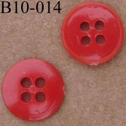 bouton diamètre 10 mm couleur rouge  4 trous