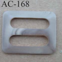 boucle anneau étrier plastique  36 mm pour sangle de 26 mm de large vendu à l'unité