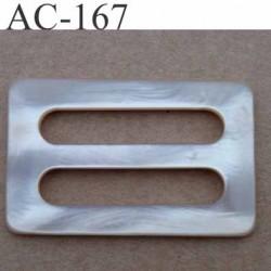 boucle anneau étrier plastique  55 mm pour sangle de 40 mm de large vendu à l'unité