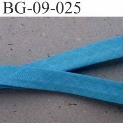 galon biais passepoil plié largeur 9 mm 2 rebords plié de 9 mm plus 2 rebords de 4 mm couleur bleu en coton