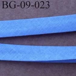 galon biais passepoil plié largeur 9 mm 2 rebords plié de 9 mm plus 2 rebords de 4 mm couleur bleu  100 % coton