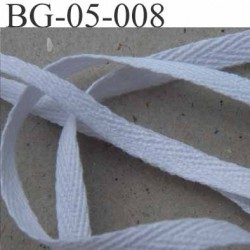 biais sergé coton superbe qualité  galon ruban couleur blanc largeur 5 mm prix au mètre