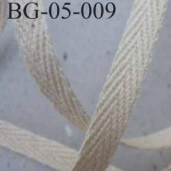 biais sergé coton superbe qualité souple et doux galon ruban couleur écru largeur 5 mm prix au mètre