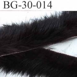biais galon ruban en poils de lapin largeur 30 mm couleur marron prix au mètre