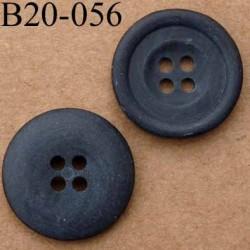 bouton 20 mm couleur noir mat 4 trous diamètre 20 mm