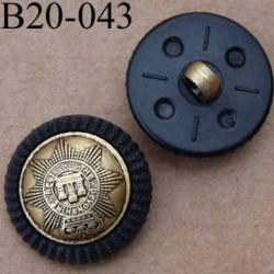 bouton 20 mm pvc couleur noir et doré un anneau diamètre 20 mm