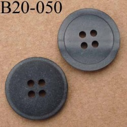 bouton 20 mm couleur anthracite nacré 4 trous diamètre 20 mm