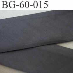 biais ruban galon a plat plié 60 +10+10 mm en coton couleur gris largeur 6 cm plus 2 fois 10 mm prix au mètre