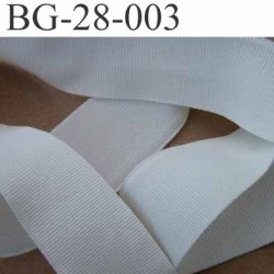 galon ruban gros grain couleur blanc souple doux légèrement élastique synthétique double face largeur 28 mm prix du mètre