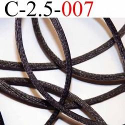 cordon queue de rat en satin  brillant couleur gris foncé diamètre 2.5 mm très solide prix du mètre