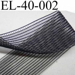 élastique plat fronceur à smock largeur 40 mm couleur noir prix au mètre
