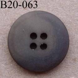 bouton 20 mm couleur marron mat 4 trous diamètre 20 mm