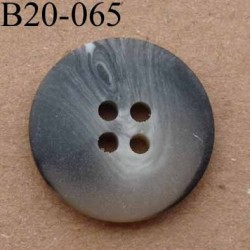 bouton 20 mm couleur noir gris beige marbré mat 4 trous diamètre 20 mm