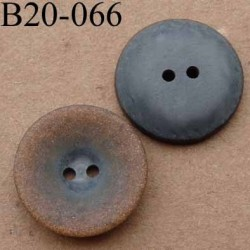 bouton 20 mm couleur anthracite mordoré brillant  2 trous diamètre 20 mm